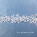 White Cluny Modern Lace Trim