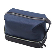 Portable Waterproof PU Leather Toiletry Bag for Men