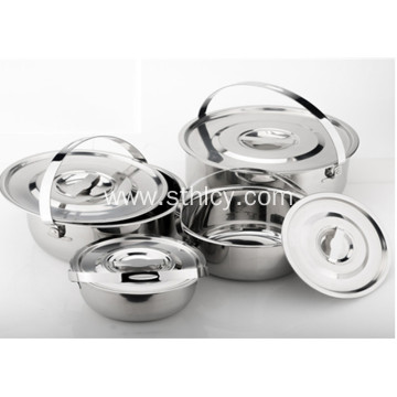 Stainless Steel Cookware Set with Handle