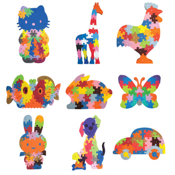 Educational kids 3d puzzle toys animal jigsaw puzzle