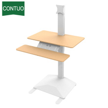 Hot Sale for One Leg Standing Desk,Adjustable Computer Table,Adjustable Height Table Manufacturers and Suppliers in China Best Portable Standing Workstation Computer Desk Under $300 supply to El Salvador Factory