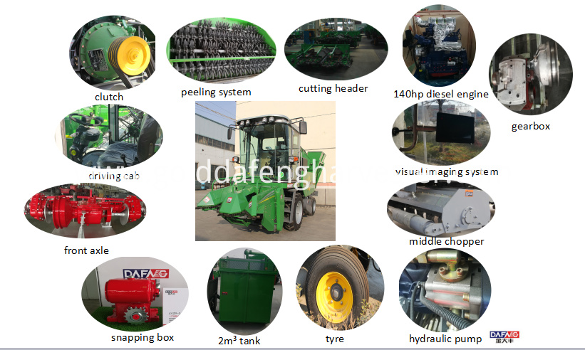 2 rows corn harvester details