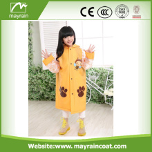 Pvc Kid Rainsuit With Printing Design