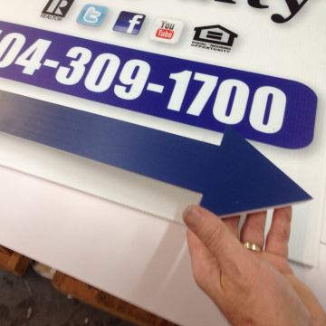 Arrow Point Cut Out Graphics Print Board Sign