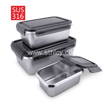 316 Stainless Steel Square Fresh-Keeping Lunch Box
