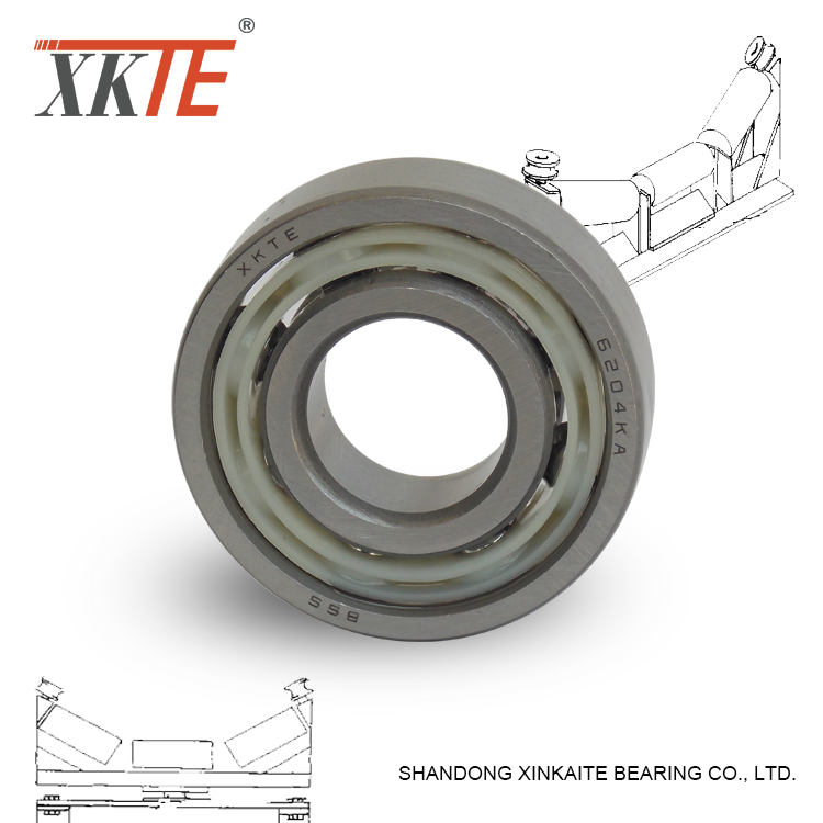 Nylon Cage Conveyor Idler Bearing 6204 KA/TN9