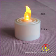 yellow color blink flameless led tea light candle