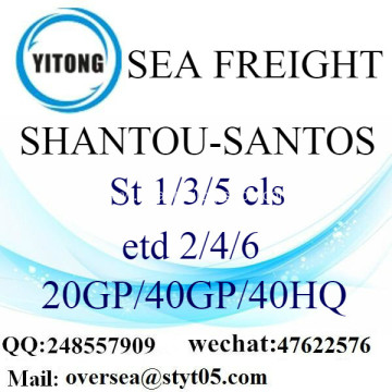 Shantou Port Sea Freight Shipping To Santos