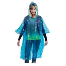 Transparent PE Rain Poncho With Sleeves