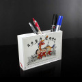 Custom High Quality White Acrylic Pencil Cup Holder