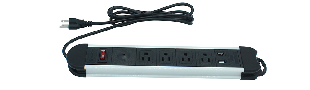 4 Gang Receptacle with USB Ports
