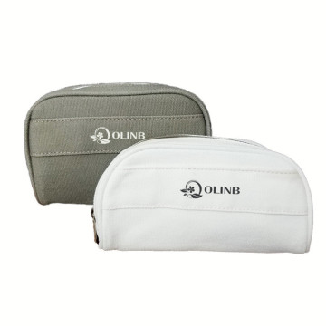 Wholesale Custom Logo Canvas Cotton Cosmetic Zipper Bag