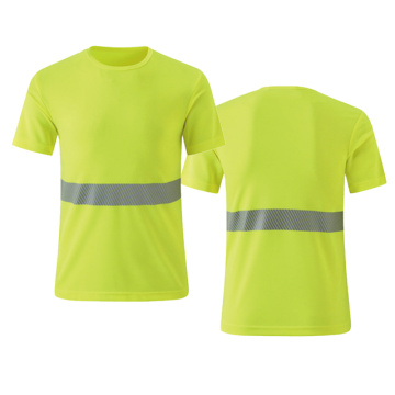 factory low price for Reflective T-Shirt ANSI/ISEA 107 safety T shirts supply to Greece Importers