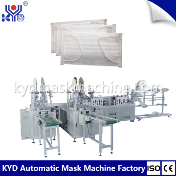 2D face mask inside earloop face mask machine