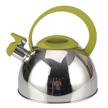 Household Green Handle Whistling Kettle