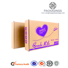 Recycle brwon kraft paper apparel packaging box