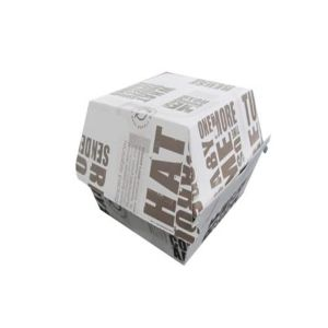 China New Product for Burger Box Food grade cardboard burger box packaging customized box export to Sudan Wholesale