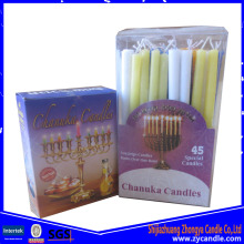 Best Quality for Small Size Hanukkah Candle Decorative Small Size Color Hanukkah Candle supply to Norfolk Island Importers