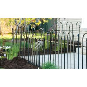Basic Arch Sectional Garden Fence Galvanized