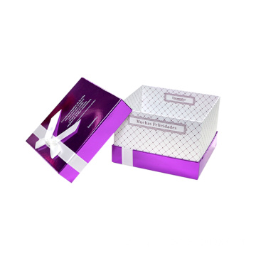 Luxury OEM Gloss Purple Bracelet Paper Gift Box