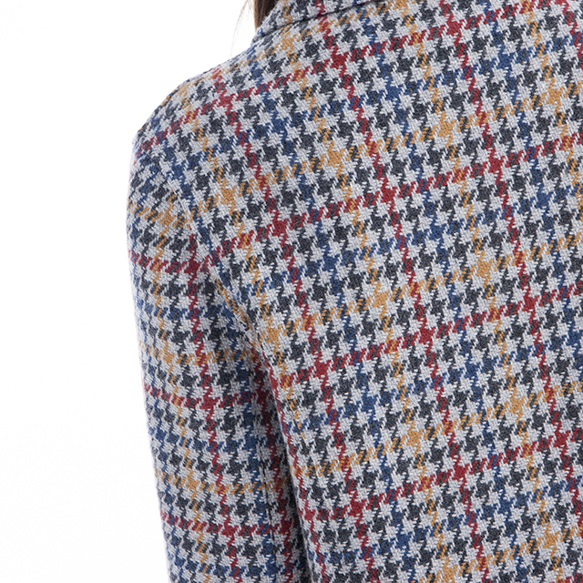 Cashmere jacket thousand bird checks