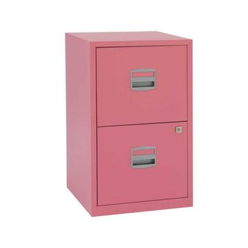 Plastic Handle Two Drawer File Cabinet