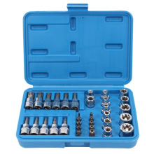 34 Pieces Nuts Set Socket Spanner Tool