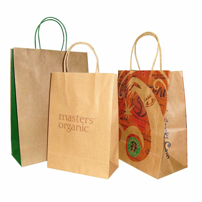 brown bag twisted handle bags