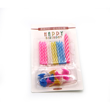 Exportar Spiral Birthday Candles Onze Suportes PCS