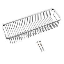 Bathroom large rectangle shower basket stainless steel