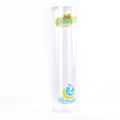 Wholesale PET material transparent Plastic Packaging tube cylinder for hair extention