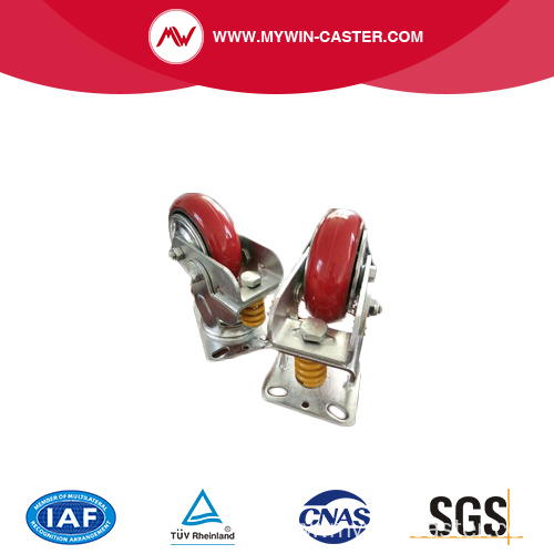 Shock Absorber locking anti-vibration caster and wheel