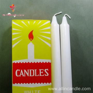 long burning time white candle