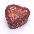 Custom Heart Shape Tin Gift Box Packaging