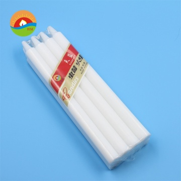 No drip paraffin wax white stick candle