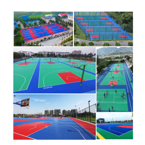 Outdoor Basketball Competition Court Tile
