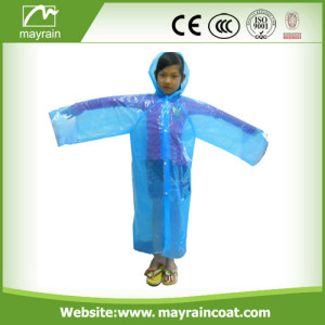 High Quality Kid PE Raincoat