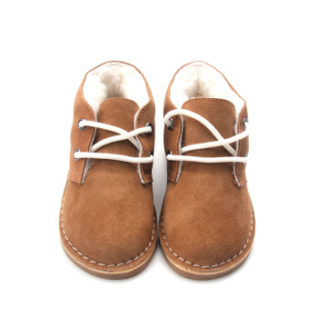 Baby Winter Warm Genuine Leather Plush Shoes