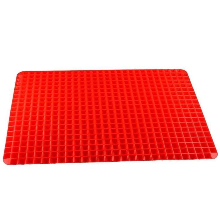 silicone red pyramid pan
