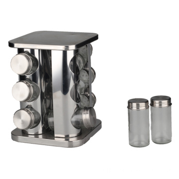 Easily Turn Stainless Steel Condiment Jar