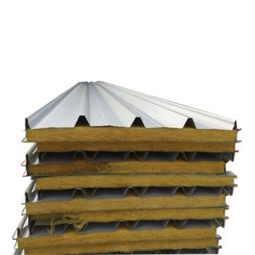 construction materials glass wool corrugated sandwich panel