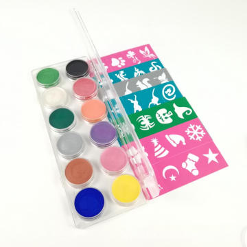 Waterbased Nontoxic Party Face Paint Palette