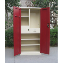 Red Swing Door Metal Wardrobe