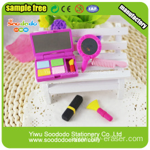 EN71, Phthalate free, CPSIA standards 3D TPR and Rubber erasers for girls