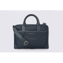 Lightweight Laptop Nylon Handbag With Leather Handles