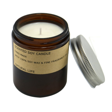 Romantic aromatherapy glass candle