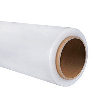 Customized for Transparent Hand Stretch Film 23 mic plastic pe stretch wrap film export to Swaziland Importers