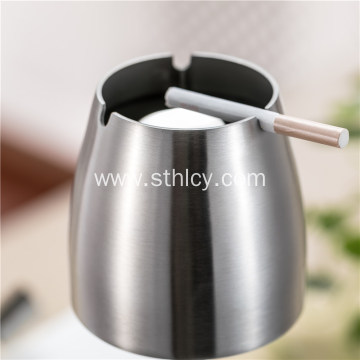 Stainless Steel Ashtray Thickening Smooth With Smoke Pillars