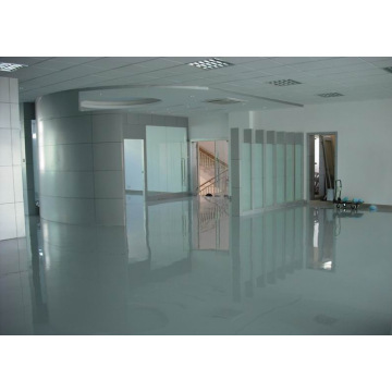 Self-leveling epoxy floor for office