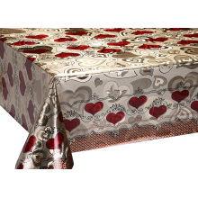 Europe style for Double Face Printed Tablecloth Double Face Silver Gold Emboss Tablecloth supply to Armenia Manufacturers